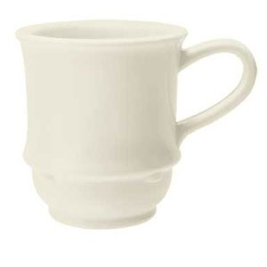 GET Enterprises TM-1208-IV Diamond Ivory Stacking Mug 8 oz. - 2 doz