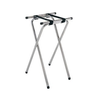 "GET Enterprises TSC-102 Deluxe Folding Chrome Tray Stand 32"" - 1/2 doz"