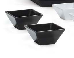 GET Enterprises ML-279-BK Siciliano Black Square Bowl 23 oz. - 1 doz