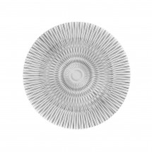 The Jay Companies 1470356 Round Genesis Silver Glass Charger Plate 13""