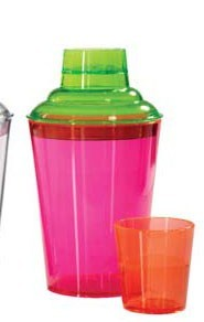 Get Enterprises SH-175-NEON Neon Plastic 3 PC-Shaker Set 17.5 oz. - 2 doz