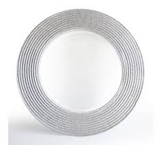 """Glass Charger Silver Color 13"""""""