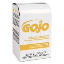 Gojo Enriched Lotion Soap Bag-in-Box Refill, Herbal Floral, 800 ml, 12/Carton