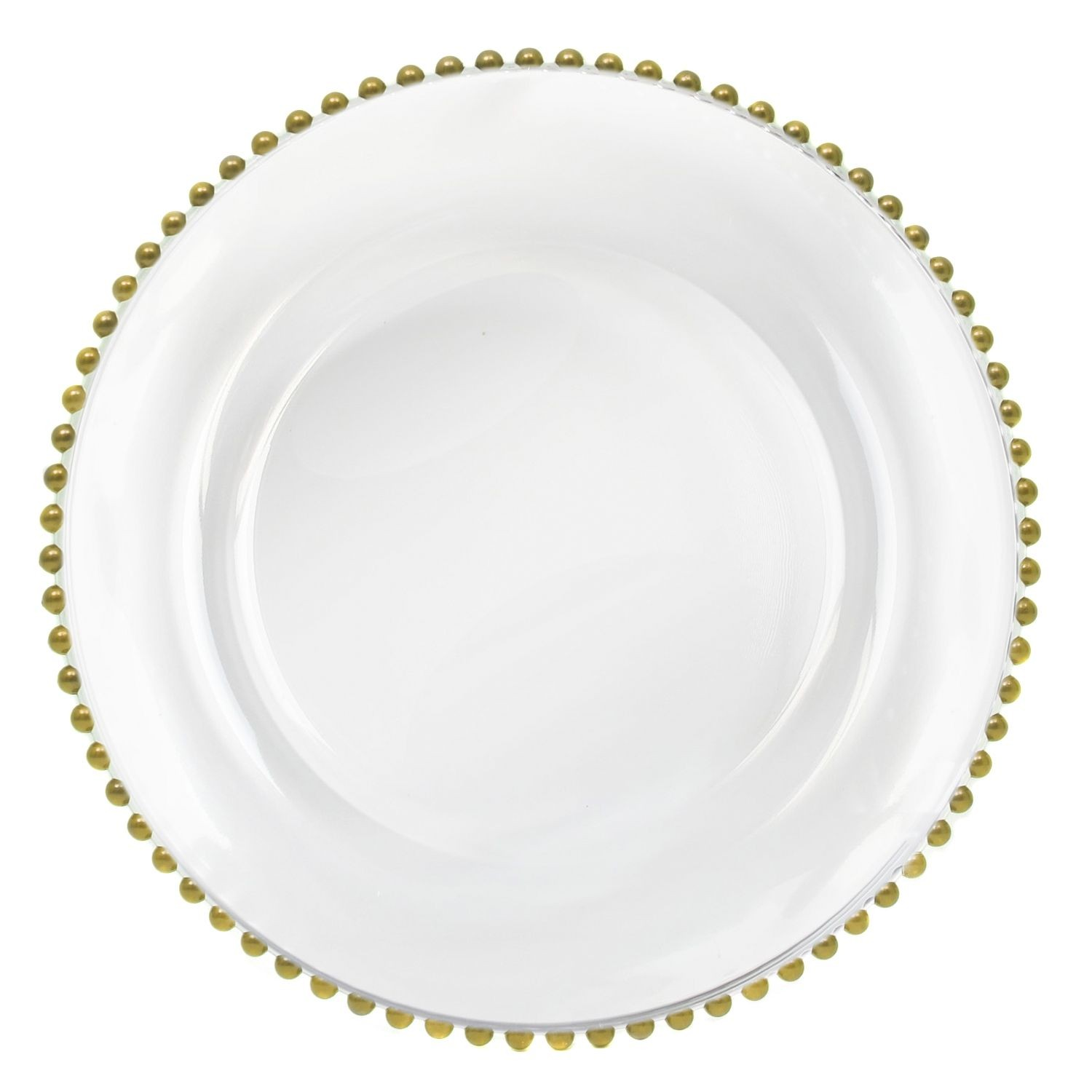 Gold Beaded Charger Plate 13""