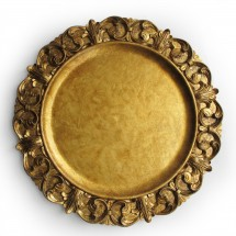 """The Jay Companies 1320391 Round Embossed Gold Charger Plate 14"""""""