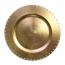 """The Jay Companies A467GR Round Gold Jeweled Rim Charger Plate 13"""""""
