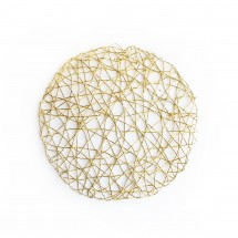 The Jay Companies 1332564 American Atelier Round Gold Placemat
