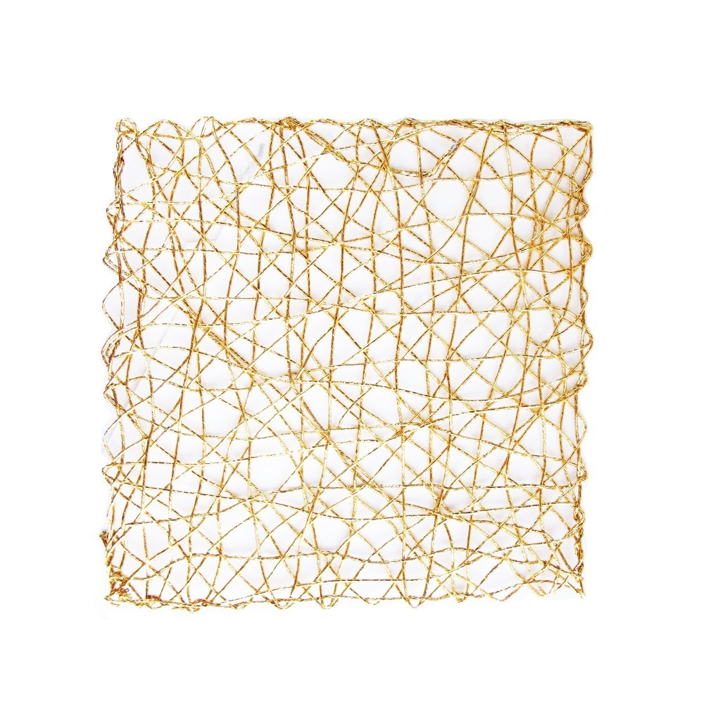 """The Jay Companies 1331674 Square Gold Placemat 13-1/2"""""""