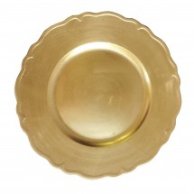 The Jay Companies A215GR Round Gold Regency Charger Plate 13""