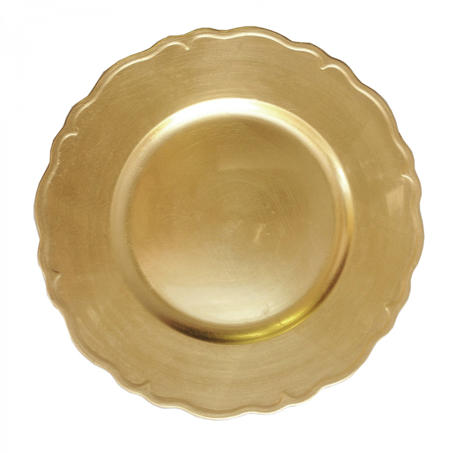 The Jay Companies A215GR Round Gold Regency Charger Plate 13&