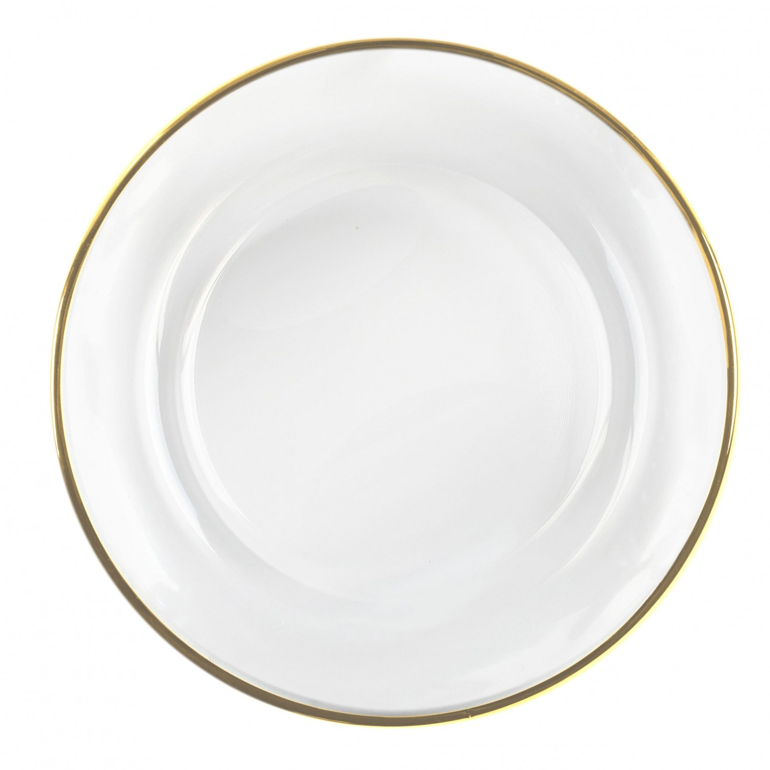 The Jay Companies 1900002 Round Gold Rim Glass Charger Plate 13""