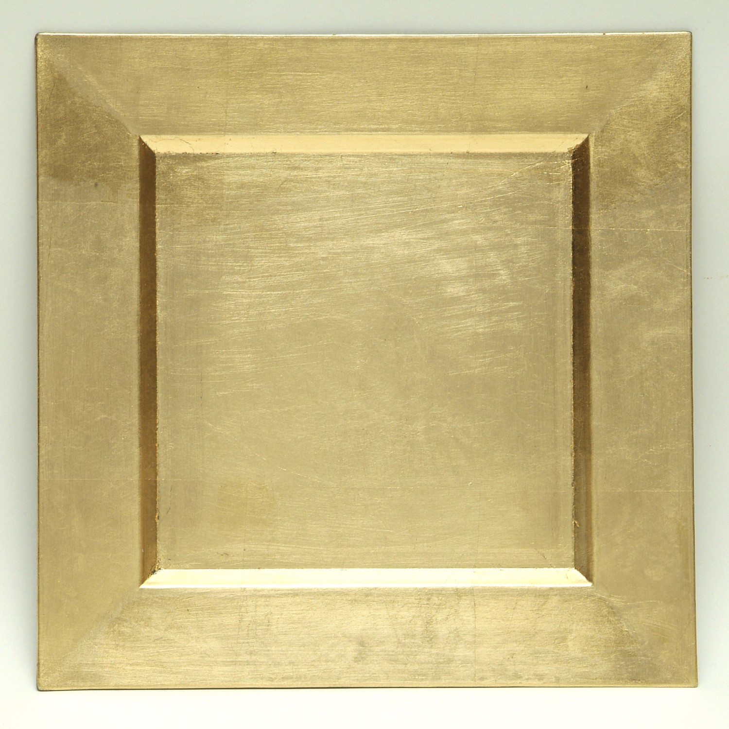 """Gold Square Charger Plate 13""""D"""