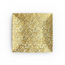 """The Jay Companies 1427367BK-12 Square Gold Mosaic Charger Plate 12"""""""