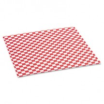 Grease-Resistant Paper Wraps and Liners, 12 x 12, Red Check, 5000/Carton