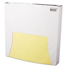 Grease-Resistant Paper Wraps and Liners, 12 x 12, Yellow, 5000/Carton