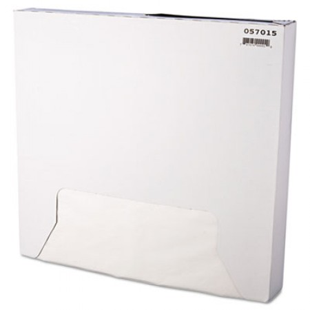 Grease-Resistant Paper Wraps and Liners, 15 x 16, White, 1000/Box, 3 Boxes/Carton