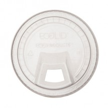 Eco-Products GreenStripe Clear Cold Cup Sip Lid, Fits 9-24 oz. Cups, 1000/Carton
