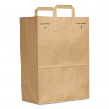 Grocery Paper Bags with Handle, 30 lbs., 12 x 7 x 17, Kraft, 300 Bags