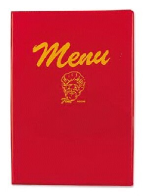 Halco 101R Red Menu Cover