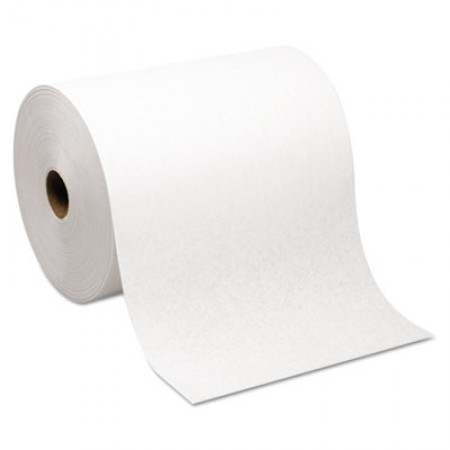 Hardwound Roll Paper Towel, Nonperforated, 7.87 x 1000ft, White, 6 Rolls/Carton