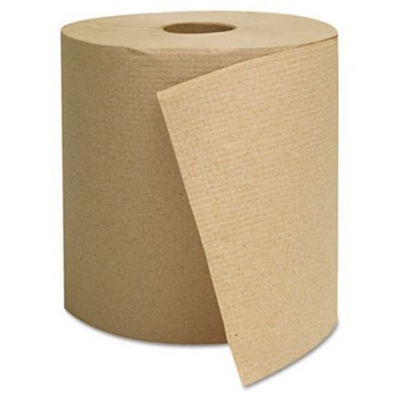 Hardwound Roll Paper Towels, Brown, 8