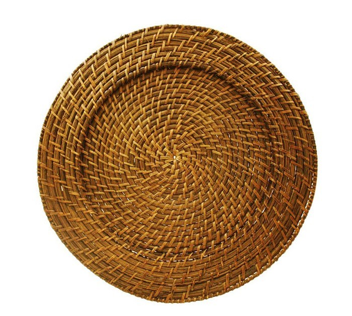 The Jay Companies 166414 Round Harvest Rattan Charger Plate 13""