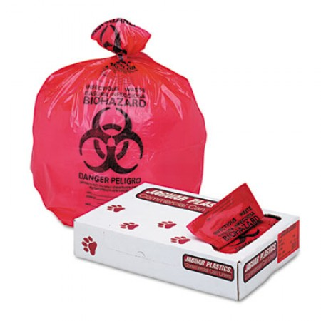 Health Care Trash Can Liners, 33 gal, 1.3 mil, 33