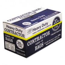 Heavy-Duty Contractor Clean-Up Bags, 60 gal, 3 mil, 32