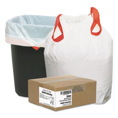 Heavy-Duty Trash Bags, 13 gal, 0.9 mil, 24.5