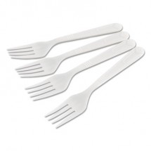 GEN Wrapped Heavyweight Forks , White, 1000/Carton