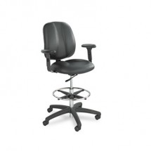 Safco Black Height-Adjustable T-Pad Arms for Apprentice Series Chairs