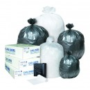 """High-Density Interleaved Commercial Can Liners, 45 Gallon, 40"""" x 48"""", Clear, 250/Carto"""