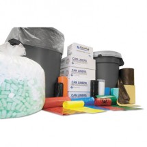 """High-Density Commercial Can Liners Value Pack, 60 gal, 12 microns, 43"""" x 46"""", Clear, 200/Carton"""