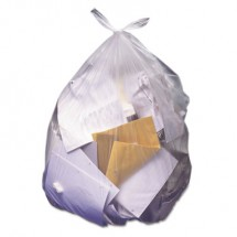 """High-Density Waste Can Liners, 45 gal, 12 microns, 40"""" x 48"""", Natural, 250/Carton"""