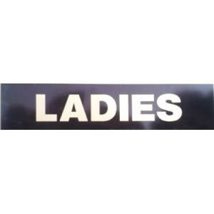 Hillman 6100-024 LADIES Sign