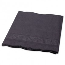 """Hoffmaster Black Tissue/Poly Tablecovers 54"""" x 108"""", 25/Carton"""