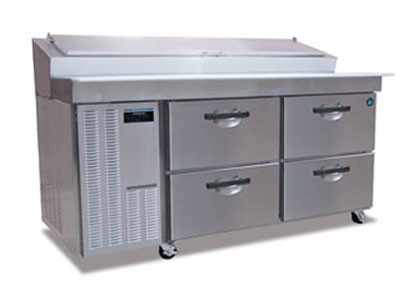 Hoshizaki HPR72A-D Two-Section Refrigerated Pizza Prep Table