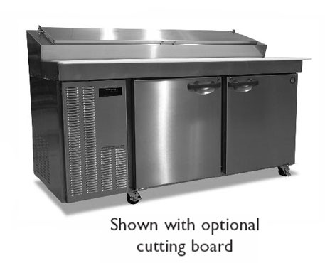 Hoshizaki HPR72A Two-Section Refrigerated Pizza Prep Table