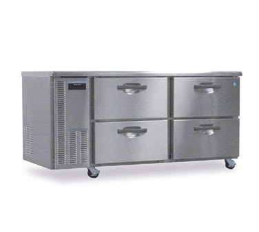 Hoshizaki HUF68A-D Two-Section Undercounter Reach-In Freezer