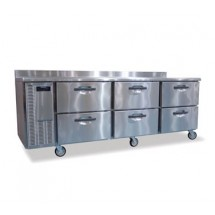 Hoshizaki HWR96A-D Three-Section Work Top Refrigerated Counter