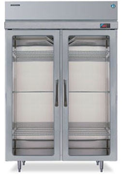 Hoshizaki RH2-SSE-FG Two-Section Glass-Door Reach-In Refrigerator