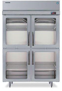 Hoshizaki RH2-SSE-HG Two-Section Half Glass-Door Reach-In Refrigerator
