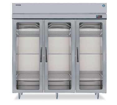 Hoshizaki RH3-SSB-FG Three-Section Glass-Door Reach-In Refrigerator