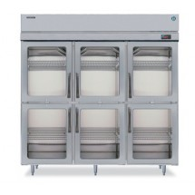 Hoshizaki RH3-SSB-HG Three-Section Half Glass-Door Reach-In Refrigerator