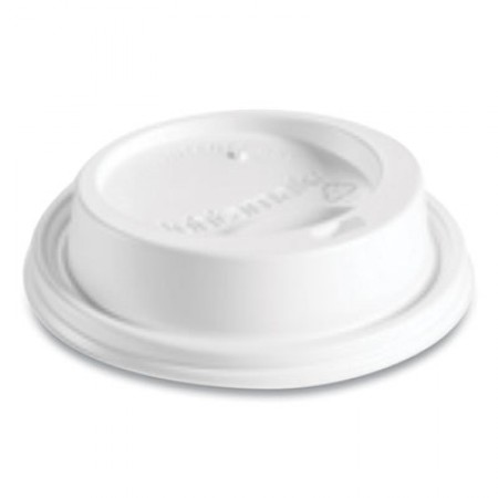 Hot Cup Lids, Fits 8 oz Hot Cups, Dome Sipper, White, 1,000/Carton