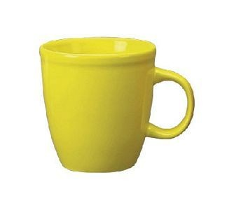 ITI 81950-242 17 oz. Lemon Vitrified Mocha Mug - 3 doz
