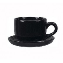 ITI 822-05 16 oz. Black Vitrified Latte Cup - 2 doz