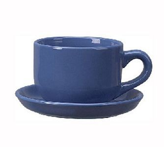 ITI 822-06 16 oz. Light Blue Vitrified Latte Cup - 2 doz