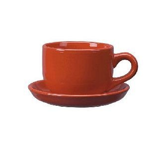 ITI 822-2194 16 oz. Red Vitrified Latte Cup - 2 doz
