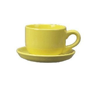 ITI-822-242 16 oz.Yellow Vitrified Latte cup - 2 doz
